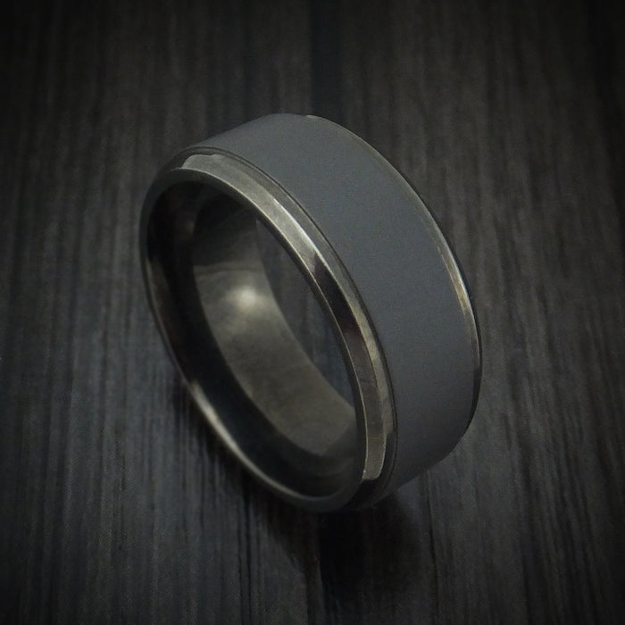 Blackened Tantalum Band Custom Made by Benchmark
