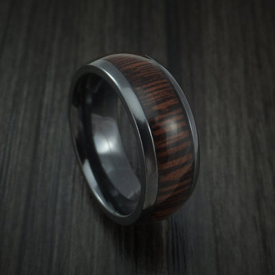 Wenge Hardwood Wedding Bands and Engagement Rings