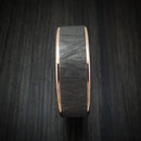 14K Rose Gold and Textured Tantalum Ring by Ammara Stone
