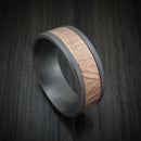 Tantalum and Textured 14K Rose Gold Ring by Ammara Stone