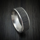 14K White Gold and Textured Tantalum Ring by Ammara Stone