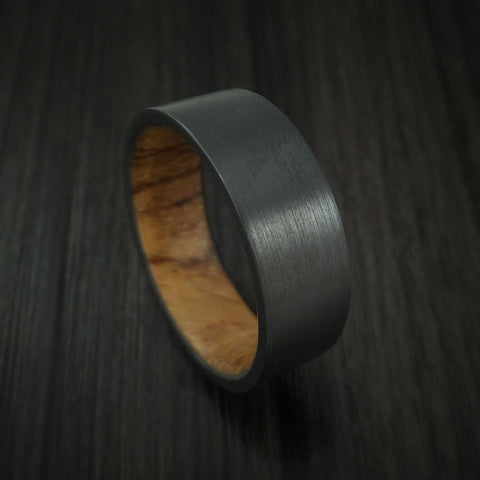 Black Zirconium andHardwood Sleeve Ring Custom Made