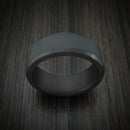 Elysium Black Diamond Wedding Band Beveled With Matte Finish