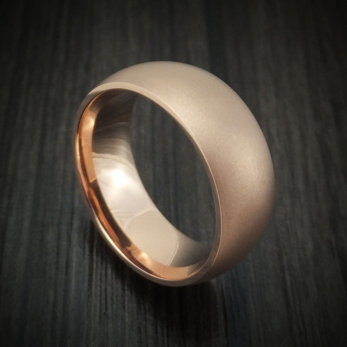 14K Gold Bead Finish Band Custom Made Ring