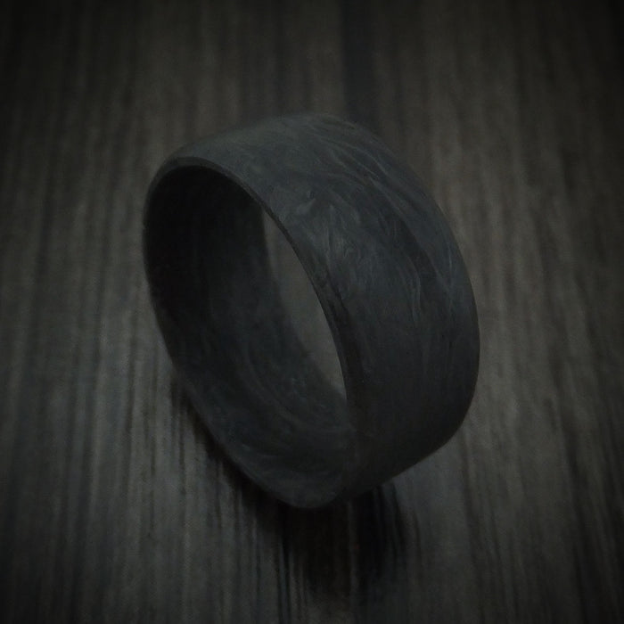 Solid Forged Carbon Fiber Ring Custom Made Band
