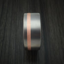 Titanium Ring Classic Copper Inlay Wedding Band Any Size and Finish