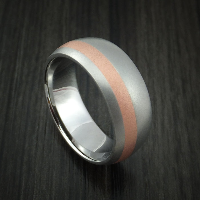 Cobalt Chrome and Copper Ring Custom Made Wedding Band