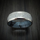 Titanium Ring With Gibeon Meteorite And Cobaltium M3 Mokume Custom Made