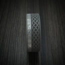 Titanium Celtic Ring with Gibeon Meteorite and M3 Mokume Sleeve Custom Made Band