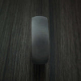 Black Zirconium Ring with Hardwood Sleeve Custom Made Band