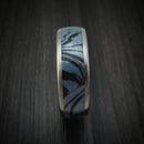 Titanium Ring With Cobaltium M3 Mokume Custom Made