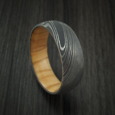 Olive Wood Hardwood Wedding Bands and Engagement Rings