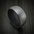 Tantalum and Forged Carbon Fiber Hammered Ring Custom Made
