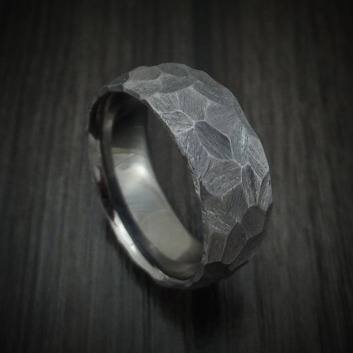 Rock Hammered Tantalum Ring Custom Made