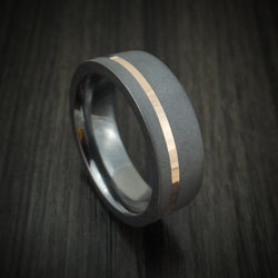Tantalum and 14K Gold Ring Custom Made