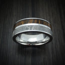Cobalt Chrome Ring with Gibeon Meteorite and Hardwood Inlays