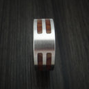Cobalt Chrome and Cocobolo Wood Custom Made Ring