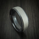 Black Zirconium Cross Satin Finish Ring