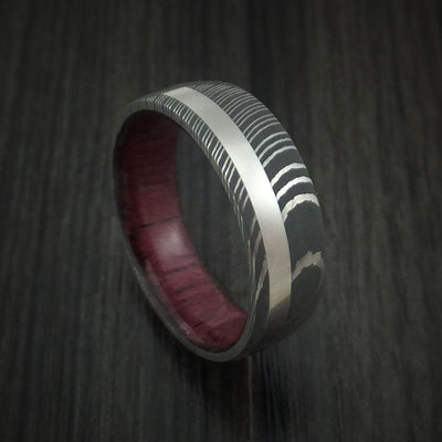 Purple Heart Hardwood Wedding Bands and Engagement Rings