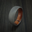 Titanium Ring with Hardwood Sleeve Custom Made Band
