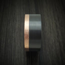 14K Gold and Black Zirconium Ring Custom Made Band