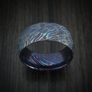 Kuro-Ti Twisted Titanium Etched and Heat-Treated Ring Rock Hammer Finish Custom Made Band