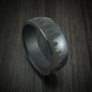Elysium Black Diamond Ring with Pine Tree Design Custom Made