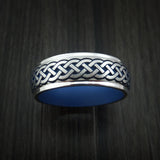 Cobalt Chrome Celtic Band Irish Knot Ring Carved Pattern Design with Cerakote Custom Made