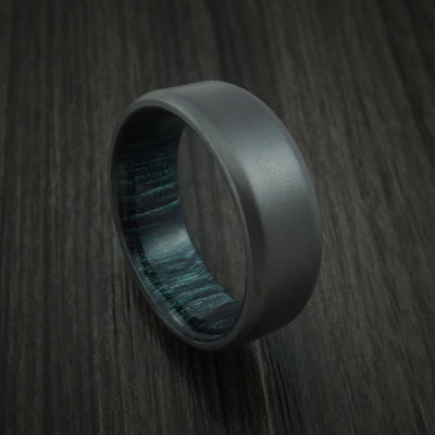 Indigo Hardwood Wedding Bands and Engagement Rings
