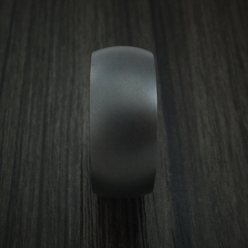Black Zirconium and Citrus Wood Hard Wood Sleeve Ring Custom Made