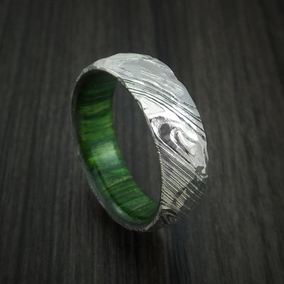 Jade Wood Hardwood Wedding Bands and Engagement Rings