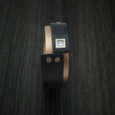 14K Rose Gold with Carbon Fiber and Diamond Custom Made Band