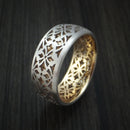 14K White Gold and Yellow Gold Band Custom Made Ring
