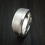 14K White Gold Band with Hidden Message and Diamond Sleeve Custom Made