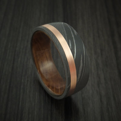 Jack Daniels Wood Hardwood Wedding Bands and Engagement Rings
