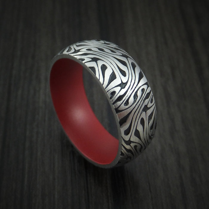 Cobalt Chrome Marble Swirl Twist with Red Cerakote Custom Made to Any Sizing