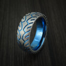 Titanium Bicycle Tire Tread Anodized Spinner Ring Custom Made Band