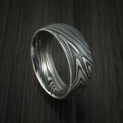Marbled Kuro Damascus Steel Ring Custom Made Wedding Band