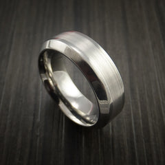 Titanium and Palladium Custom Inlay Ring - Revolution Jewelry  - 1