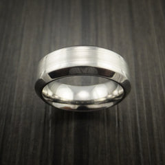 Titanium and Palladium Custom Inlay Ring - Revolution Jewelry  - 2