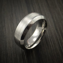 Titanium and Palladium Custom Inlay Ring - Revolution Jewelry  - 3