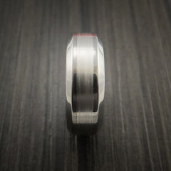 Titanium and Palladium Custom Inlay Ring - Revolution Jewelry  - 4