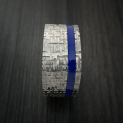 Square Titanium Ring Modern Design Band Custom Made with Comfort Fit Color Inlay - Revolution Jewelry  - 2