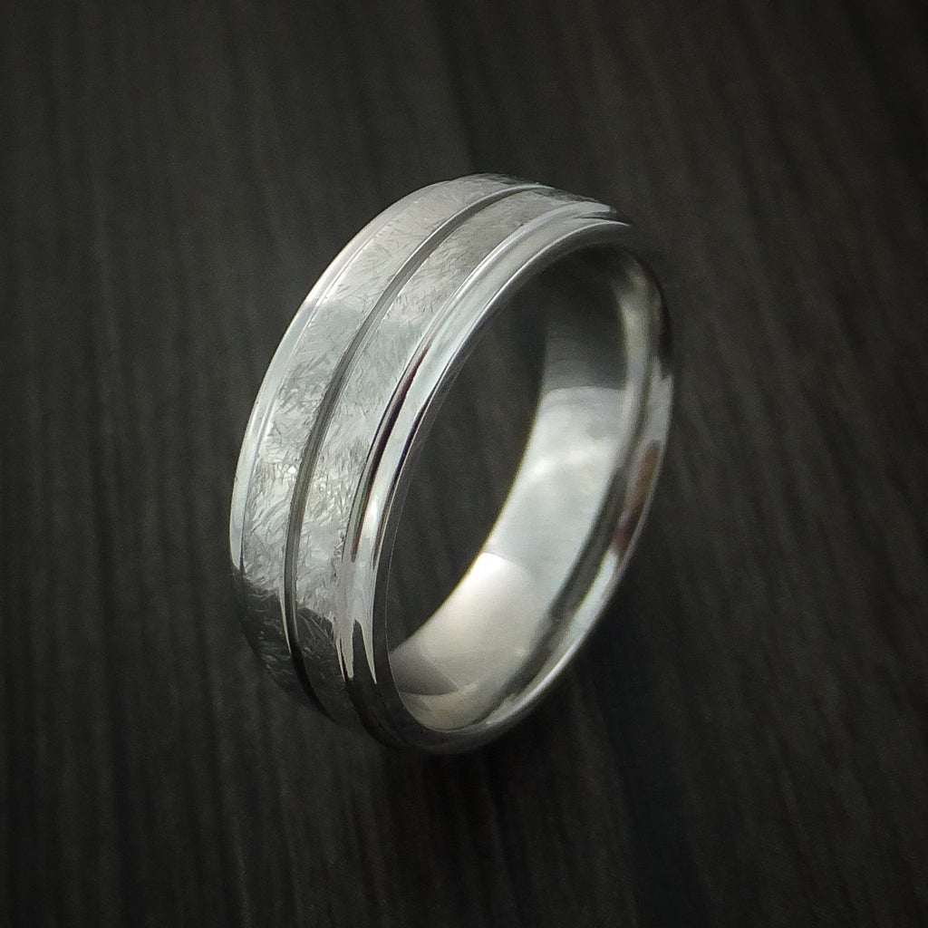 Cobalt Chrome Ring Distressed Finish Band Made to Any Sizing