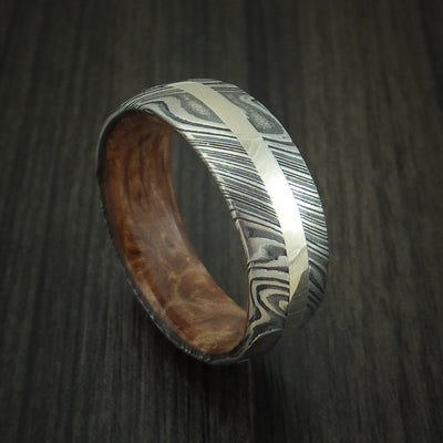 Maple Burl Hardwood Wedding Bands and Engagement Rings