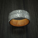 Titanium Mud Tread Tire Ring with Osage Orange Wood Sleeve Custom Made