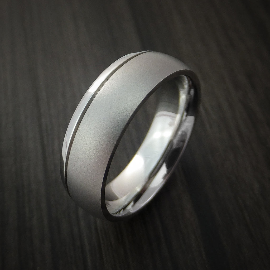 Cobalt Chrome Ring with Two-Tone Finish Custom Made Any Size
