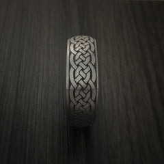 Square Titanium Celtic Band with Knot Design Custom Made - Revolution Jewelry  - 4