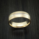 14k Yellow Gold and White Gold Band Custom Made Ring