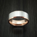 14k White and Rose Gold Band Custom Made